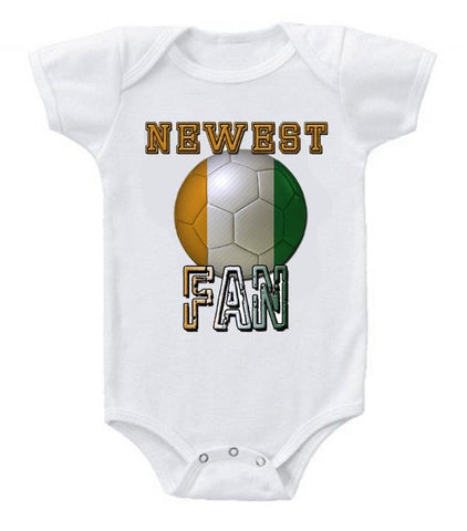 Cute Funny Baby Bodysuits Creeper World Cup Soccer Ivory Coast Newest Fan