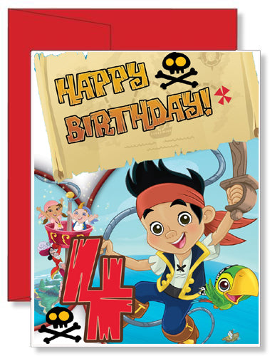 Personalized Birthday Greeting Card Disney Jake and the Neverland Pirates
