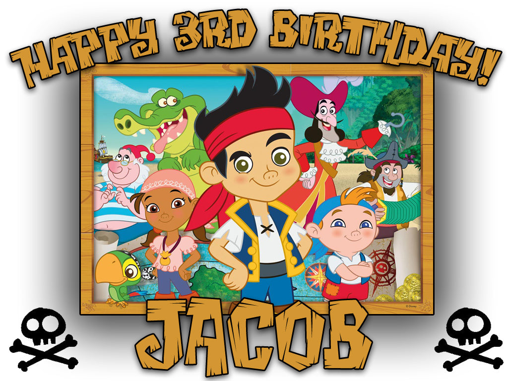 Personalized Custom Jake and the Neverland Pirates Birthday Shirt T-shirt Very Cute!