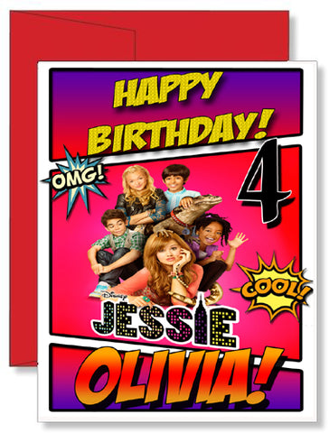 Personalized Birthday Greeting Card Disney Jessie Show