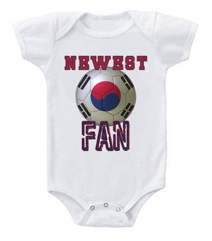 Cute Funny Baby Bodysuits Creeper World Cup Soccer Korea Newest Fan