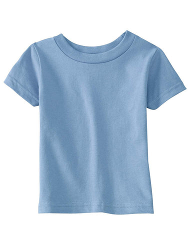 Very Soft Baby Infant Cotton Jersey T-Shirt Light Blue 100% Cotton