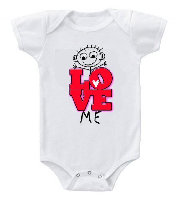 Very Cute Funny Baby Bodysuits Creeper Love Me #2