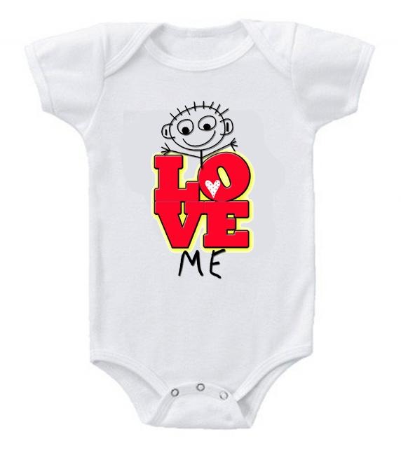 Very Cute Funny Baby Bodysuits Creeper Love Me