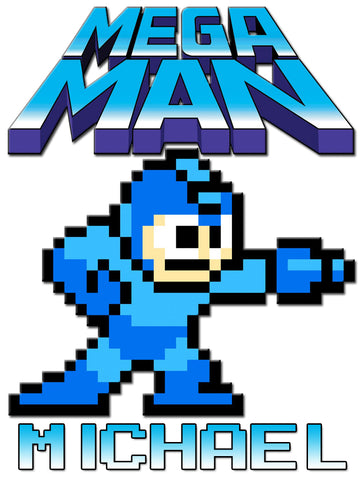 Personalized Mega Man Video Game T-shirt With Name Tee Shirt NEW Great Gift!