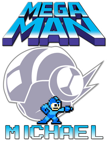 Personalized Mega Man Video Game T-shirt With Name Tee Shirt NEW Great Gift! #2