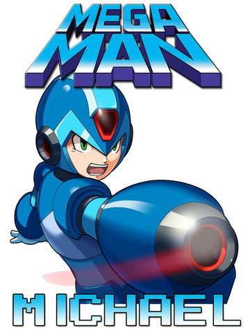 Personalized Mega Man Video Game T-shirt With Name Tee Shirt NEW Great Gift! #3