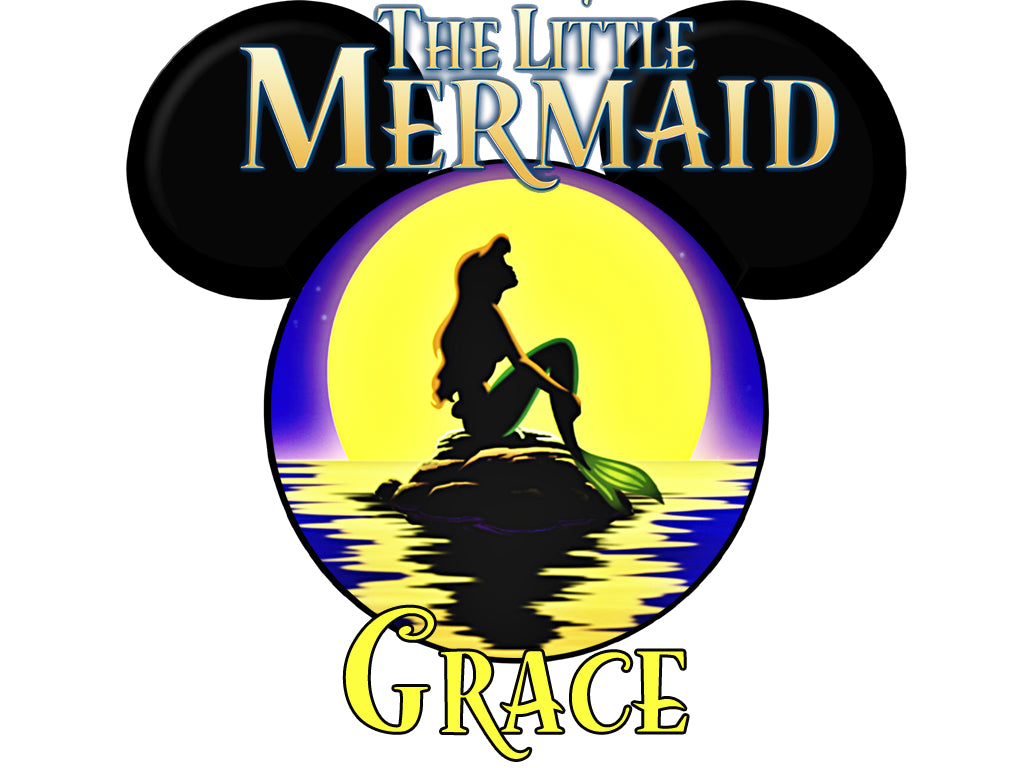 Personalized Disney The Little Mermaid T-shirt With Name Tee Shirt Great Gift!