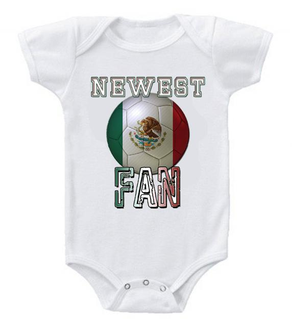 Cute Funny Baby Bodysuits Creeper World Cup Soccer Mexico Newest Fan
