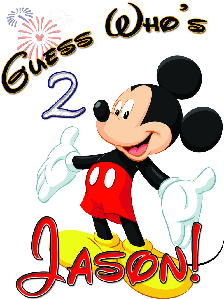 Personalized Custom Disney Birthday Mickey Mouse Shirt T-shirt Very Cute! #3
