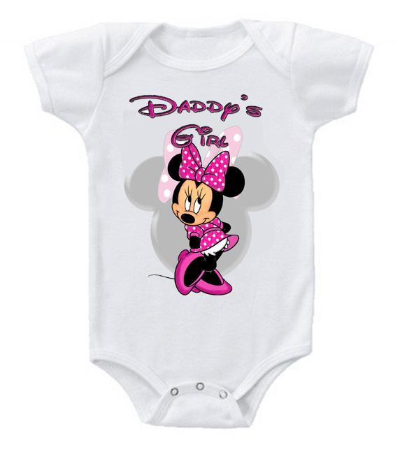 Very Cute Funny Baby Bodysuits Creeper Disney Minnie Mouse Daddy's Girl