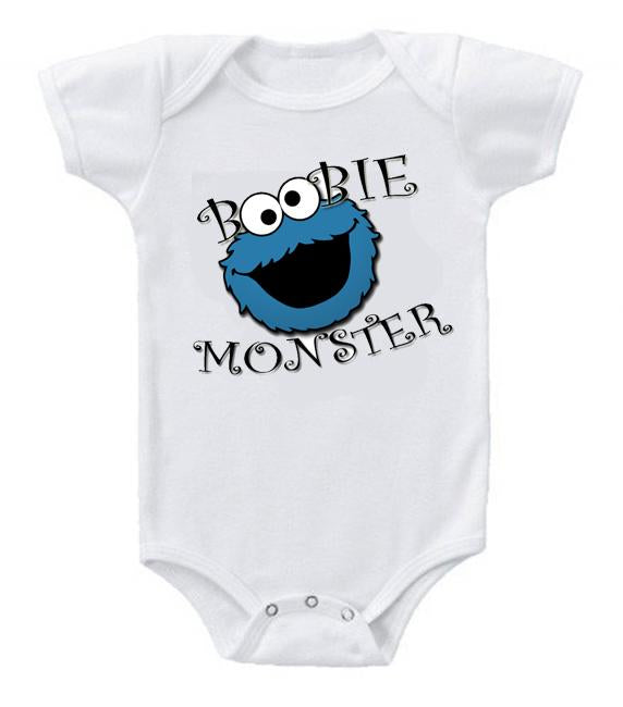 Very Cute Funny Baby Bodysuits Creeper Boobie Monster Cookie