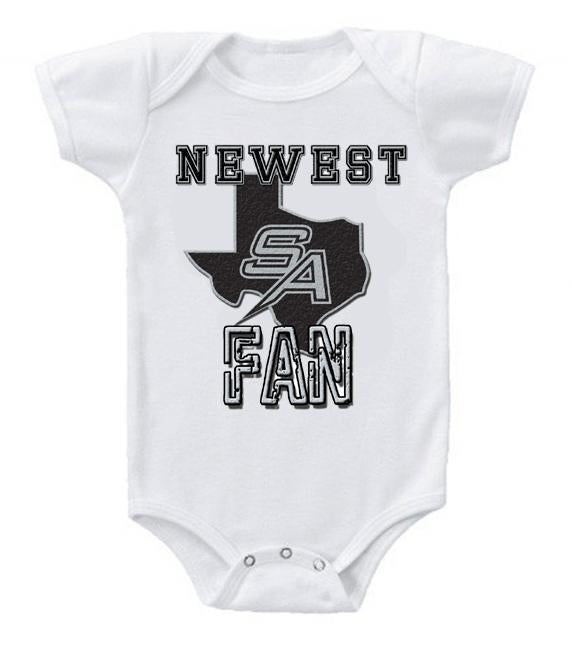 Cute Funny Baby Bodysuits Creeper Basketball NBA San Antonio Spurs Newest Fan