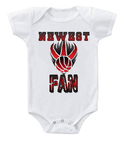 Cute Funny Baby Bodysuits Creeper Basketball NBA Toronto Raptors Newest Fan