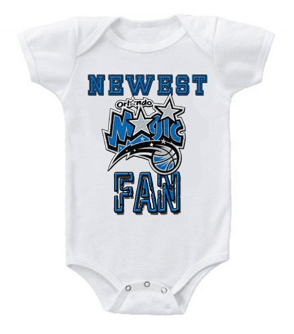 Cute Funny Baby Bodysuits Creeper Basketball NBA Orlando Magic Newest Fan