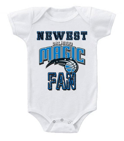 Cute Funny Baby Bodysuits Creeper Basketball NBA Orlando Magic Newest Fan #2