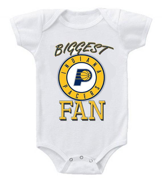Cute Funny Baby Bodysuits Creeper Basketball NBA Indiana Pacers Fan