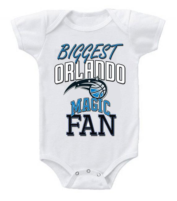 Cute Funny Baby Bodysuits Creeper Basketball NBA Orlando Magic Fan #2