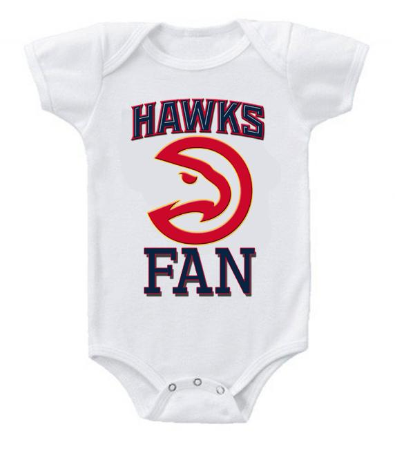 Cute Funny Baby Bodysuits Creeper Basketball NBA Atlanta Hawks Fan #2