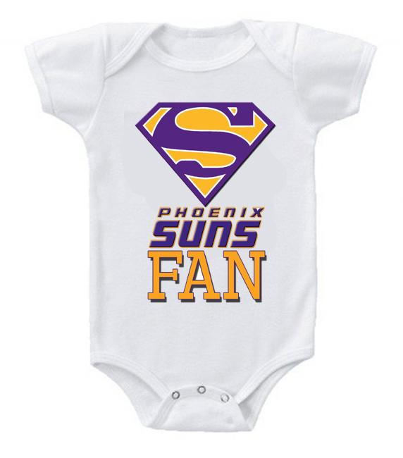 Cute Funny Baby Bodysuits Creeper Basketball NBA Phoenix Suns Fan