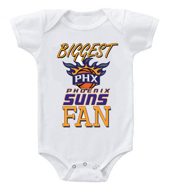 Cute Funny Baby Bodysuits Creeper Basketball NBA Phoenix Suns Fan #2