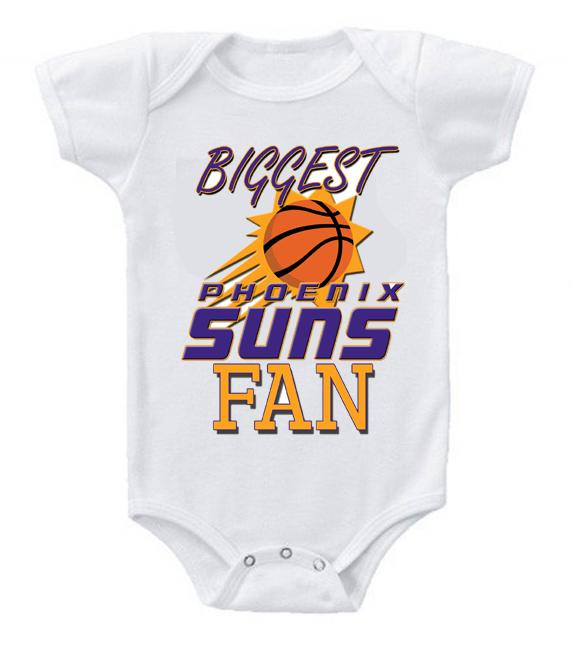 Cute Funny Baby Bodysuits Creeper Basketball NBA Phoenix Suns Fan #3