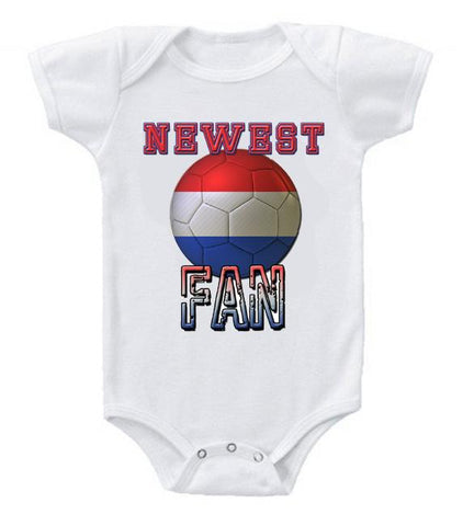 Cute Funny Baby Bodysuits Creeper World Cup Soccer Netherlands Newest Fan