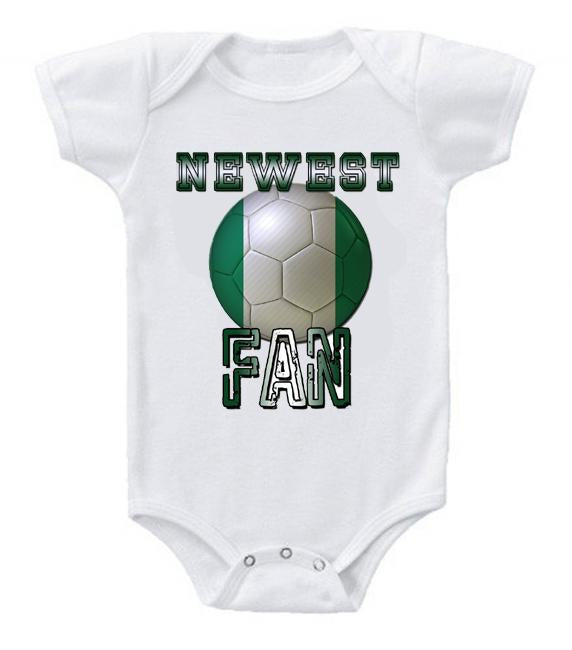 Cute Funny Baby Bodysuits Creeper World Cup Soccer Nigeria Newest Fan
