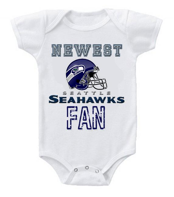 Cute Funny Baby Bodysuits Creeper Football NFL Seattle Seahawks #2