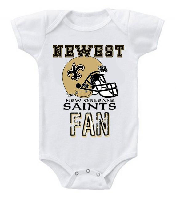 Cute Funny Baby Bodysuits Creeper Football NFL New Orleans Saints #2
