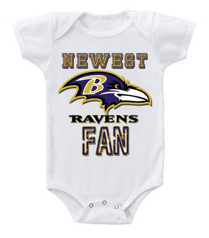 Cute Funny Baby Bodysuits Creeper Football NFL Baltimore Ravens