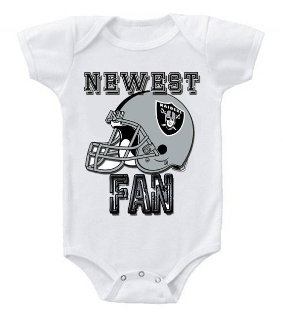 Cute Funny Baby Bodysuits Creeper Football NFL Oakland Raiders
