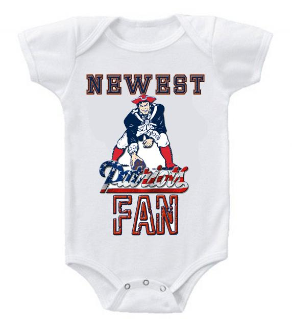 Cute Funny Baby Bodysuits Creeper Football NFL New England Patriots