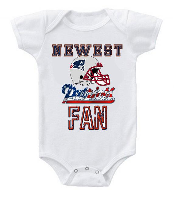 Cute Funny Baby Bodysuits Creeper Football NFL New England Patriots #3