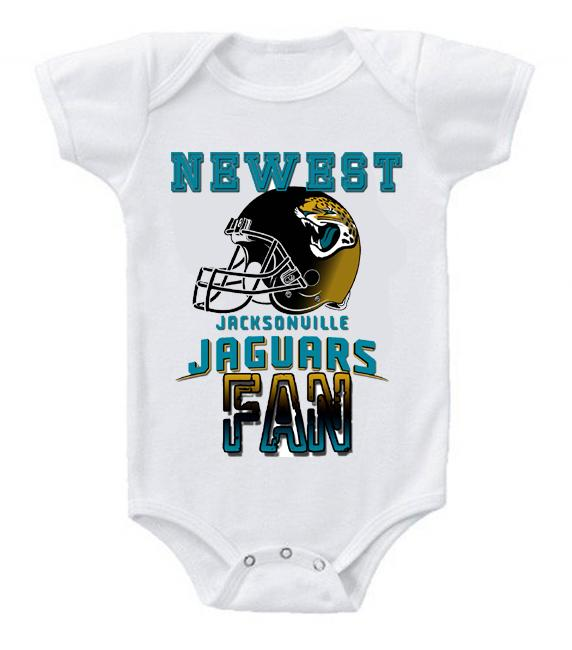 Cute Funny Baby Bodysuits Creeper Football NFL Jacksonville Jaguars