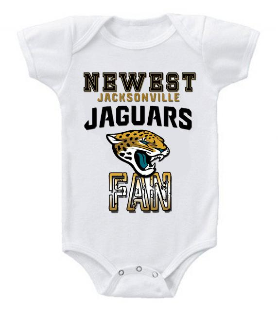 Cute Funny Baby Bodysuits Creeper Football NFL Jacksonville Jaguars #2