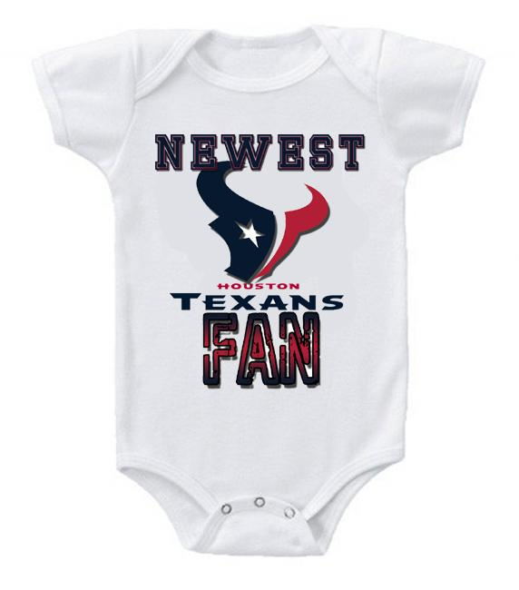 Cute Funny Baby Bodysuits Creeper Football NFL Houston Texans #3