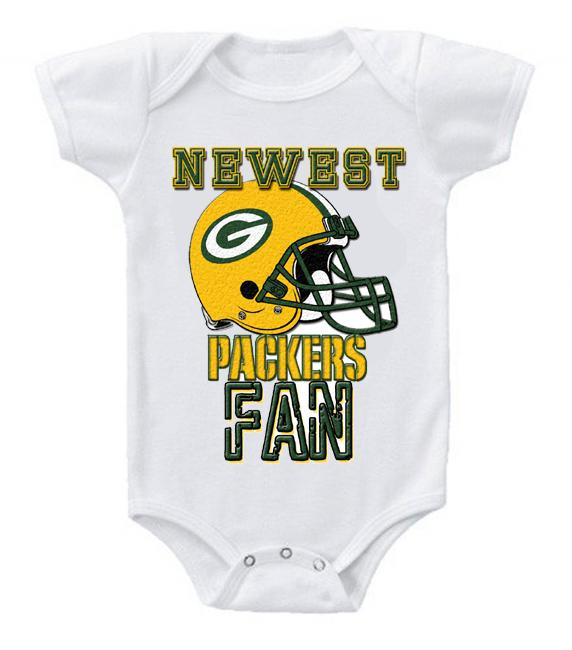 Cute Funny Baby Bodysuits Creeper Football NFL Green Bay Packers