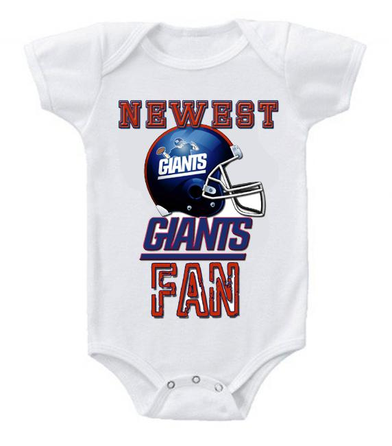 Cute Funny Baby Bodysuits Creeper Football NFL New York Giants