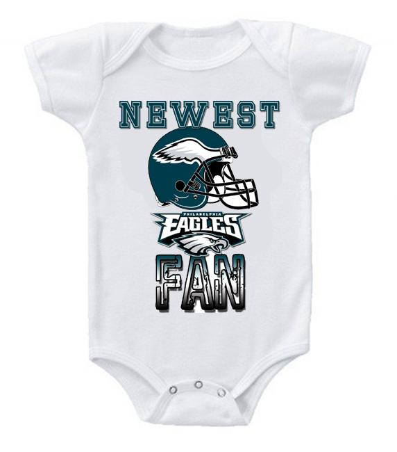Cute Funny Baby Bodysuits Creeper Football NFL Philadelphia Eagles #2