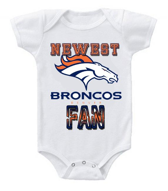 Cute Funny Baby Bodysuits Creeper Football NFL Denver Broncos #3