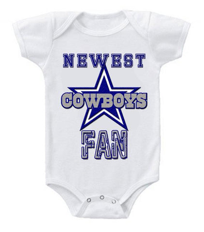Cute Funny Baby Bodysuits Creeper Football NFL Dallas Cowboys