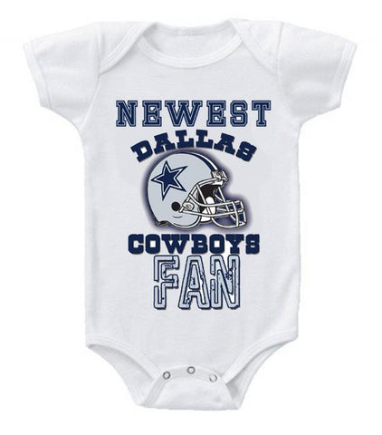 Cute Funny Baby Bodysuits Creeper Football NFL Dallas Cowboys #2