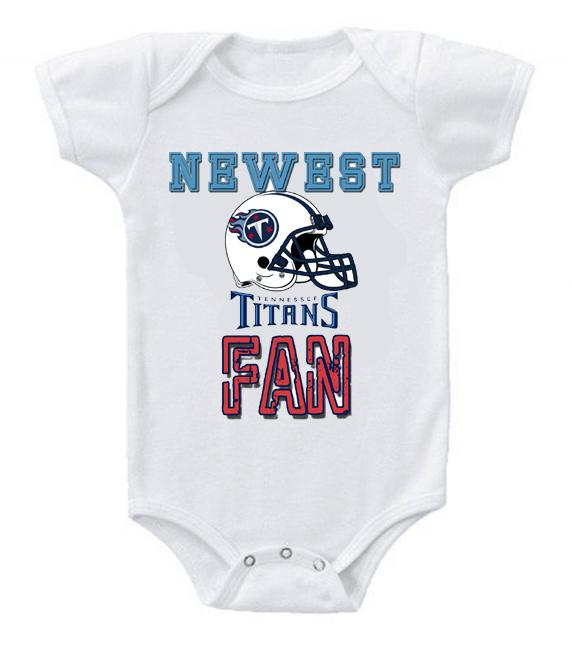 Cute Funny Baby Bodysuits Creeper Football NFL Tennessee Titans