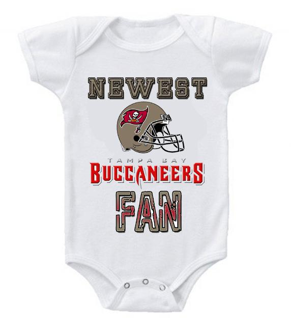 Cute Funny Baby Bodysuits Creeper Football NFL Tampa Bay Buccaneers #2