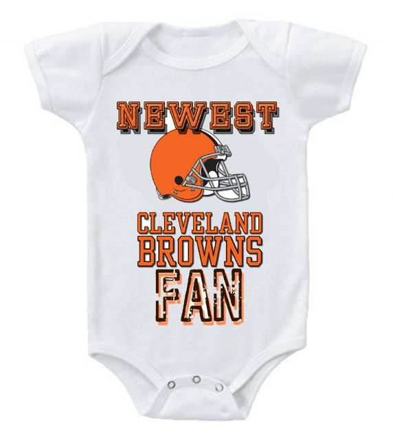 Cute Funny Baby Bodysuits Creeper Football NFL Cleveland Browns