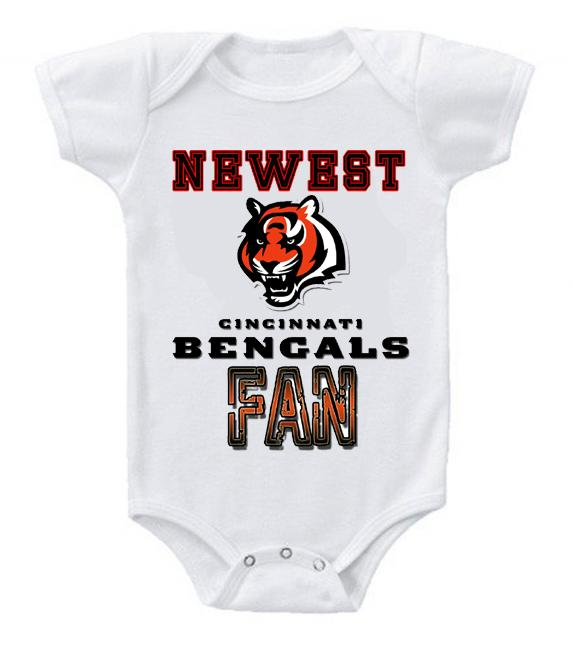 Cute Funny Baby Bodysuits Creeper Football NFL Cincinnati Bengals