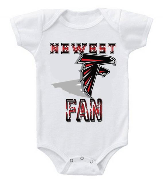 Cute Funny Baby Bodysuits Creeper Football NFL Atlanta Falcons #2