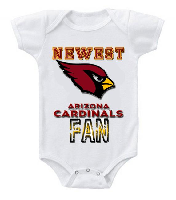 Cute Funny Baby Bodysuits Creeper Football NFL Arizona Cardinals #2