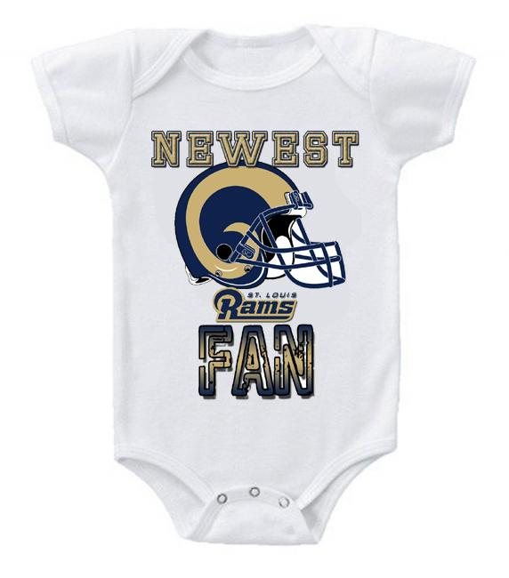 Cute Funny Baby Bodysuits Creeper Football NFL St Louis Rams